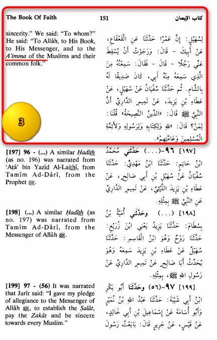 Sahih Muslim Kitabuliman chapter 22 hadith 199 c