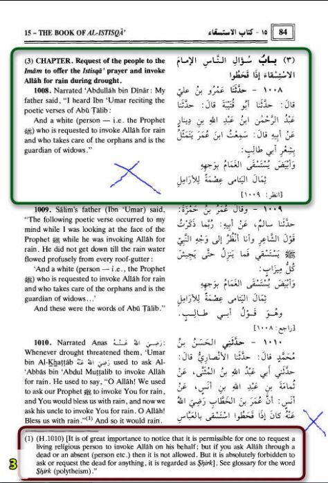 Wahabi Tehreef by Muhsin Khan in Sahih Bukhari 3
