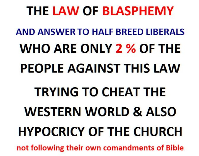 Muslim Answer for 2 percents Against Blasphemy Laws