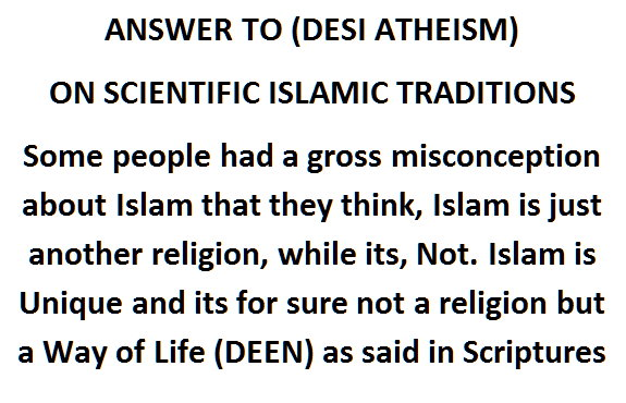 Answer to Desi Dehriyat by Muslim Scientific Point of View [Radde-ilHaad]